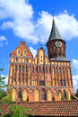 Inactive konigsberg cathedral constructed in style of the baltic gothic style kaliningrad russia may sunny spring day Stock Photo