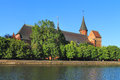 Inactive konigsberg cathedral kaliningrad russia june built in the gothic style of the baltic on the morning of june in the city Stock Photo