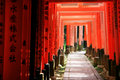Inari torii gates - Kyoto - Japan Stock Photos