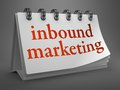 Inbound Marketing Concept on Desktop Calendar. Stock Image