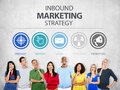 Inbound Marketing Strategy Advertisement Commercial Branding Co Royalty Free Stock Photo
