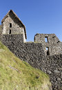 Inca house at Machu Picchu, Peru. Royalty Free Stock Image