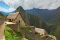 Inca house in Machu Picchu Royalty Free Stock Photo