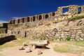 Inca ruins, Isla del Sol, Titicaca lake, Bolivia Royalty Free Stock Photo