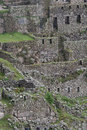 Inca Ruins in Machu Picchu Royalty Free Stock Photo