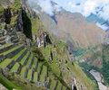 Inca ruins of Machu Picchu, Peru Stock Image