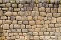 Inca ruins wall built without mortar engineering technique at ingapirca ecuador Stock Image