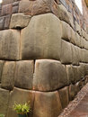 Inca stone wall Stock Photo