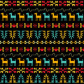 Inca style seamless pattern Fotos de Stock Royalty Free
