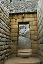 Inca Temple Doorway at Machu Picchu Royalty Free Stock Photo