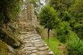 Inca Trail at Intipunku Royalty Free Stock Photo
