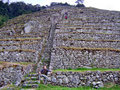 Inca trail stone hill Royalty Free Stock Photo