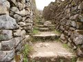 Inca trail between stone walls Royalty Free Stock Photos