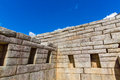 Inca Wall in Machu Picchu, Peru, South America. Example of polygonal masonry. Royalty Free Stock Photo