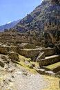 Incan ruins- Peru Royalty Free Stock Photo