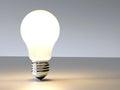 Incandescence 3D lightbulb design background Royalty Free Stock Photo