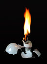 Incandescent Flaming Light Bulb Royalty Free Stock Photo