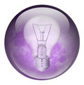 Incandescent light bulb illustration of an on a white background Royalty Free Stock Photography