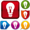 Incandescent lightbulb icon Royalty Free Stock Photography