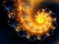 Incendie cosmique Images libres de droits