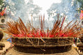 The incense burner at hanoi vietnam Royalty Free Stock Photography