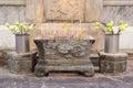 Incense burner in thai temple Stock Images