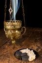 Incense burning Royalty Free Stock Photo