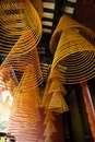 Incense spirals, Kun iam temple, macau. Royalty Free Stock Photos