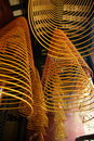 Incense spirals, Kun iam temple, macau. Royalty Free Stock Photo