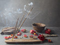 Incense stick. Aromatherapy Royalty Free Stock Photo