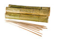 Incense sticks near packages isolated Stock Photos