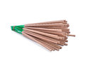 Incense sticks on white background Royalty Free Stock Photos