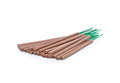 Incense sticks on white background Stock Images