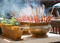 Incense to worship the sacred beliefs of buddhists Stock Image