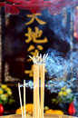 The incense and worship Buddha Stock Images