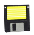 Inch high density floppy disc image of a isolated on a white background clipping path included Stock Photo