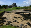 Inchcolm abbey ruins island in the firth of forth scotland Royalty Free Stock Images
