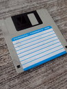Inches diskette floppy disk Royalty Free Stock Images