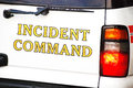Incident command vehicle at a emergency scene Royalty Free Stock Photography