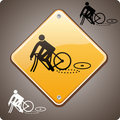 Incidente do esporte, bicicleta Fotografia de Stock Royalty Free
