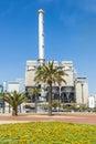 Incinerator plant in Barcelona Royalty Free Stock Photo