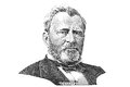 Incisione di Ulysses S. Grant Immagine Stock