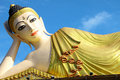 Inclined Buddha of Pra-thart Su-tone,Phrae Royalty Free Stock Photography