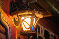 Included a old night lamp on the street Royalty Free Stock Photo