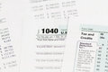 1040 income tax form Royalty Free Stock Photo