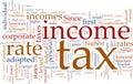 Daň z příjmu bublina se slovy
