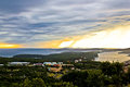 Incoming storm over Losinj island Royalty Free Stock Photo