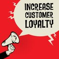 Increase Customer Loyalty business concept