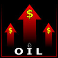 Increasing price of oil concept Stock Images