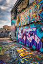 Incredible artwork in graffiti alley baltimore maryland Royalty Free Stock Photography